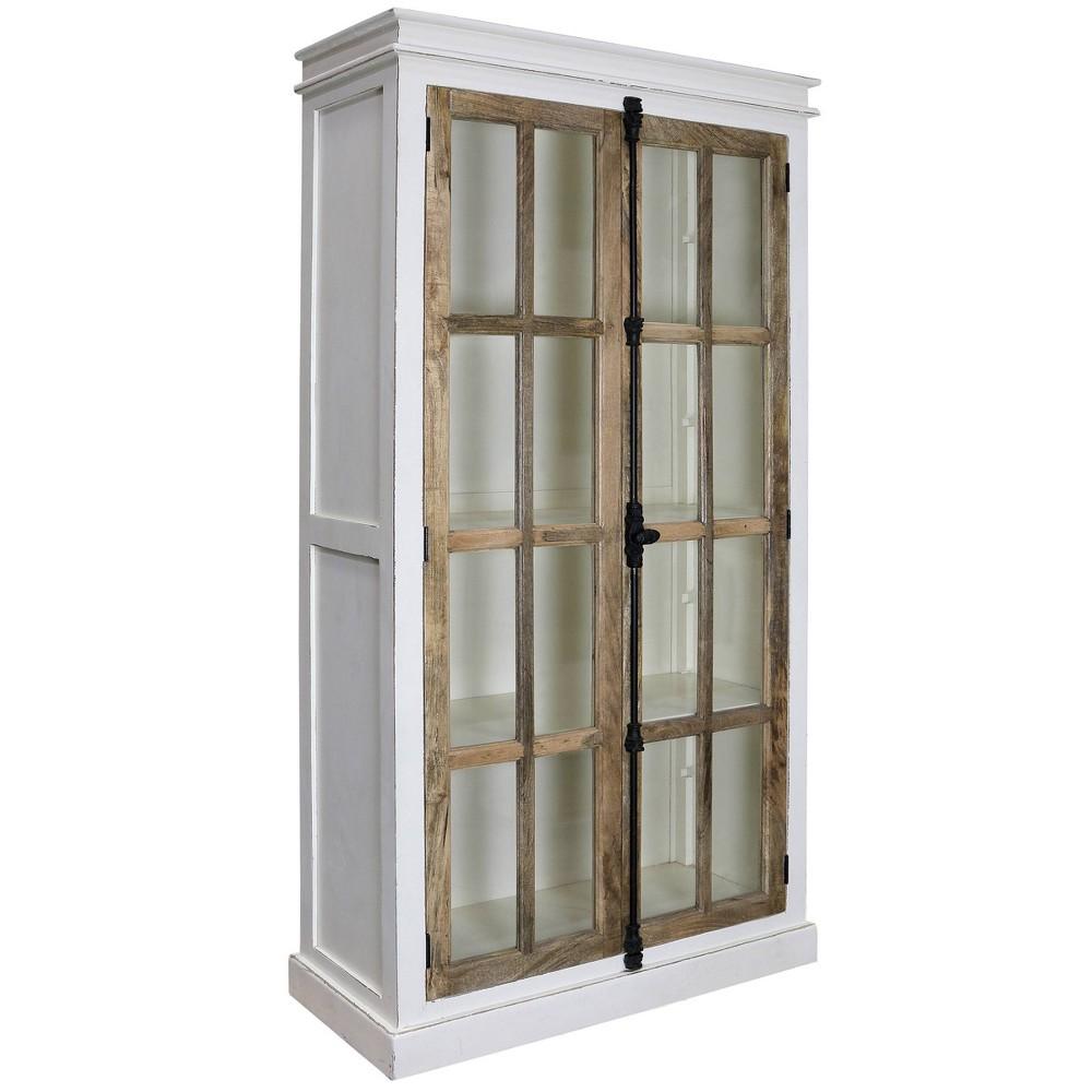 Tucker Curio Cabinet White Natural Stylecraft