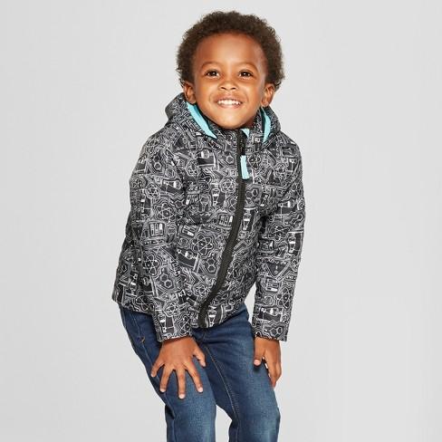 38d00651405e Toddler Boys  Midweight Puffer Jacket - Cat   Jack™ Black   Target