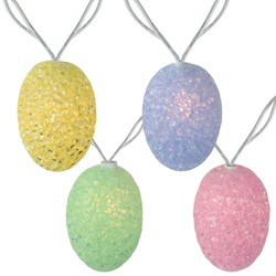 Northlight 10 Spring Pastel Colored Easter Egg String Lights - 7.25ft White Wire