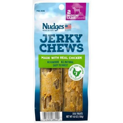 Nudges Jerky Chews Chicken Dry Dog Treats