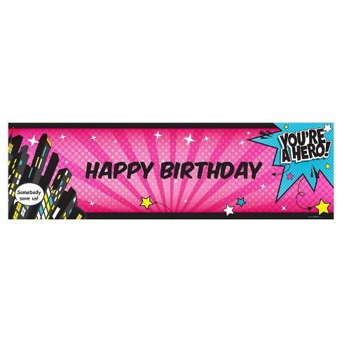 superhero girl birthday banner standard target