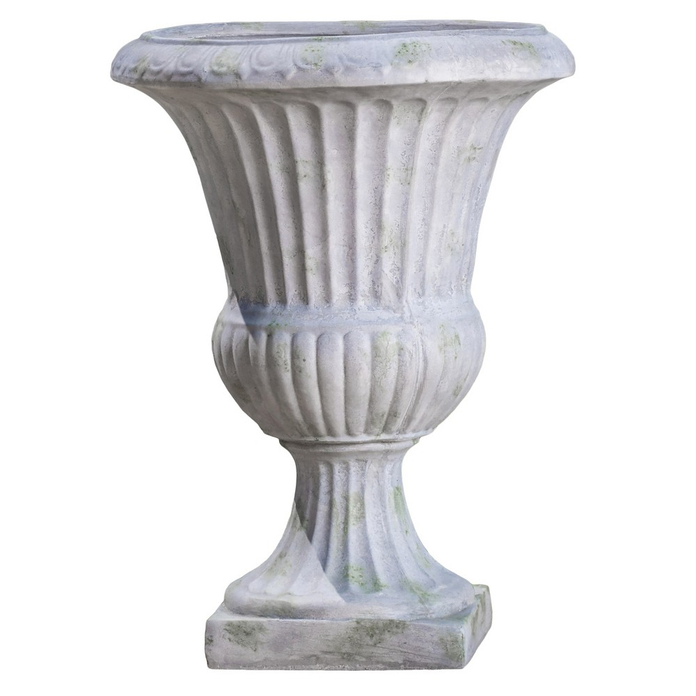 Image of 22.5 Ulysses Cast Stone Patio Urn - Christopher Knight Home, Antique White