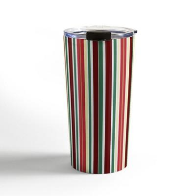 Lisa Argyropoulos Holiday Traditions Stripe Travel Mug20 oz Stainless Steel Travel Mug - Deny Designs