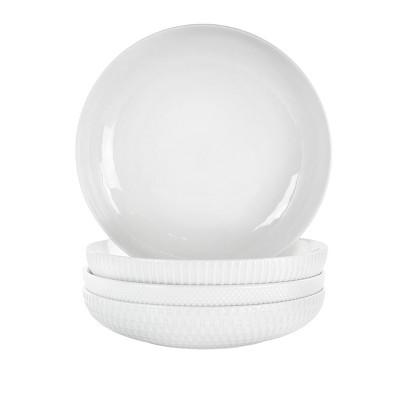 20oz 4pk Porcelain Esme Assorted Bowls White - Elama