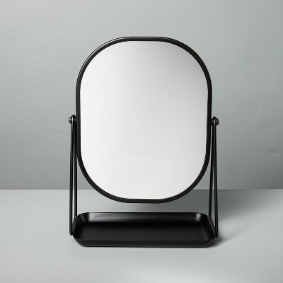 Metal Vanity Flip Mirror with Tray Black - Hearth & Hand™ with Magnolia