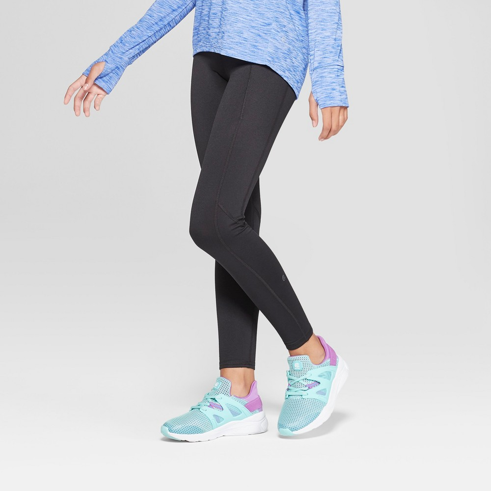 Girls' Cozy Performance Leggings With Pockets - C9 Champion Black M