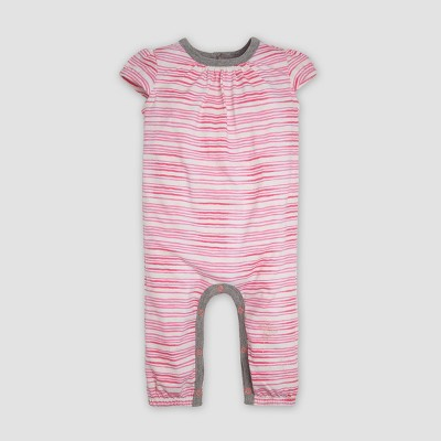 Burt's Bees Baby® Baby Girls' Organic Cotton 'On the Road' Coverall - Pink 3-6M
