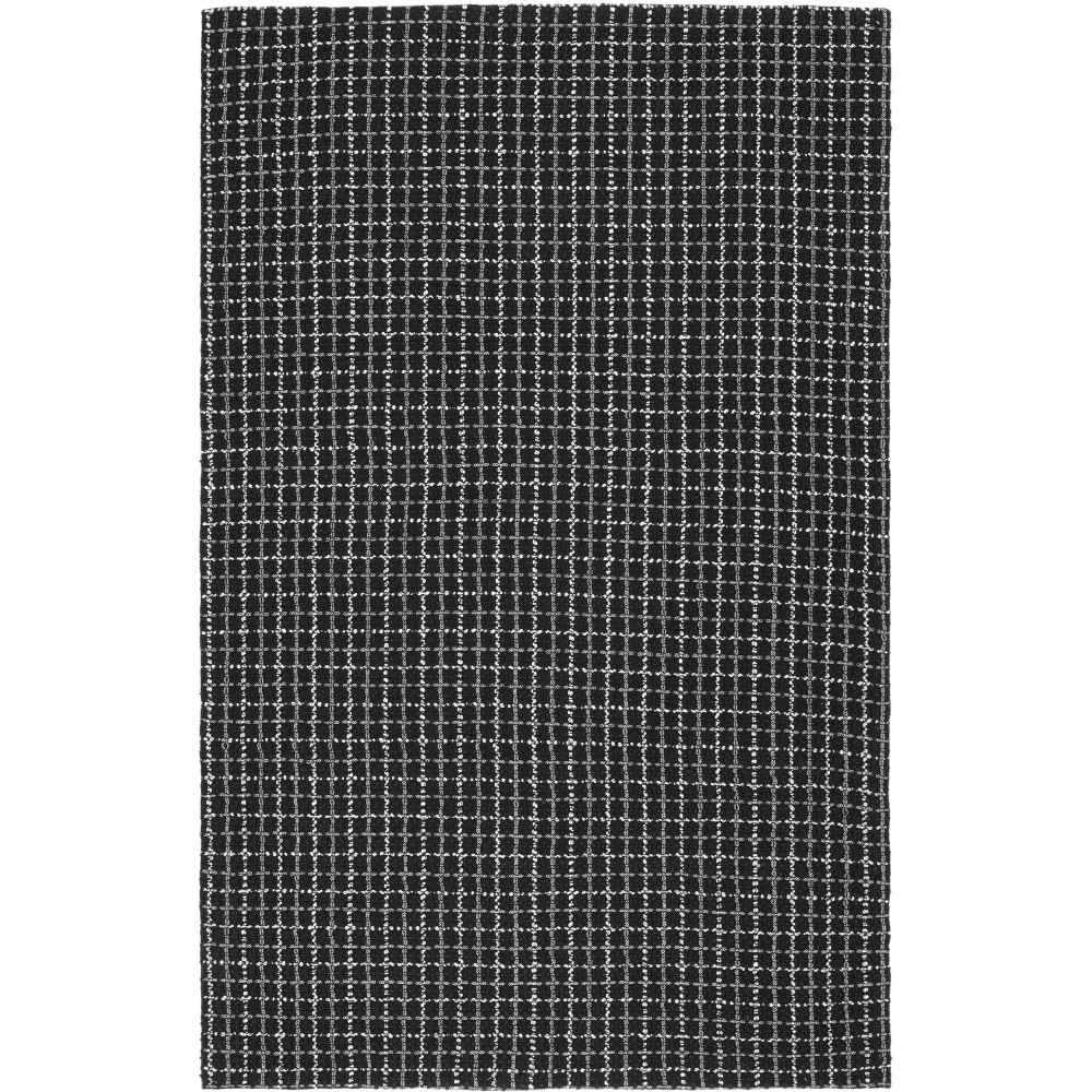 5'X8' Crosshatch Woven Area Rug Black/Light Gray - Safavieh