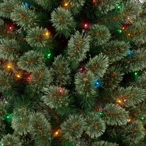 6ft prelit artificial christmas tree slim virginia pine multi lights wondershop target