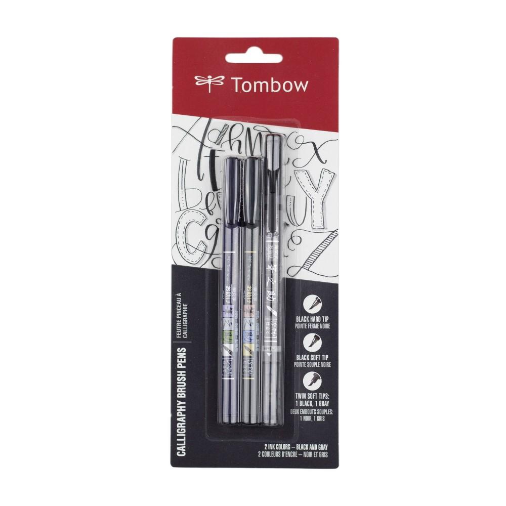Image of 3ct Pen Set Fudenosuke - Tombow