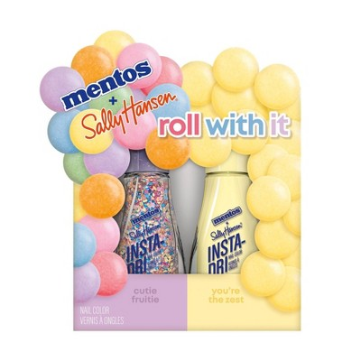 Sally Hansen Insta-Dri Mentos Nail Color Duo Pack - Roll with It - 2pc/0.31 fl oz