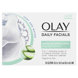 Unscented Olay Daily Gentle Clean 5-in-1 Water Activated Cleansing Cloths - 33ct