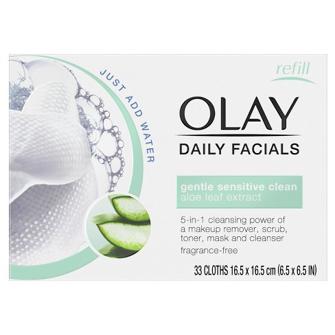 Unscented Olay Daily Gentle Clean 5-in-1 Water Activated Cleansing Cloths - 33ct - image 1 of 3