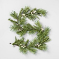 """72"""" Faux White Pine Garland with Berry - Hearth & Hand™ with Magnolia"""