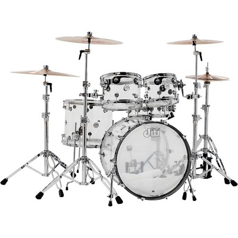 DW Design Series Acrylic 5-Piece Shell Pack with Chrome Hardware Clear - image 1 of 1