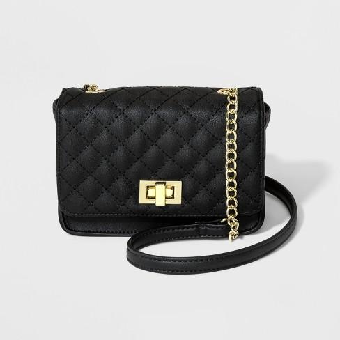 017a9c7826 Girls  Quilt Crossbody Bag - Art Class™ Black   Target