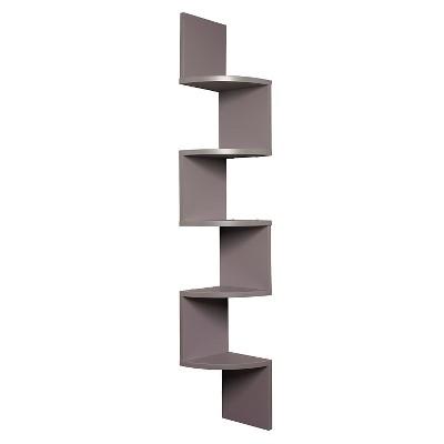 Zig Zag Corner Shelf- Gray