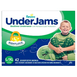 Pampers UnderJams Boys Bedtime Underwear Super Pack Size L/XL (42 ct)