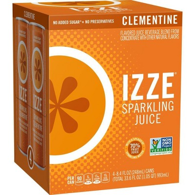 IZZE Sparkling Clementine Beverage - 4pk/8.4 fl oz Cans