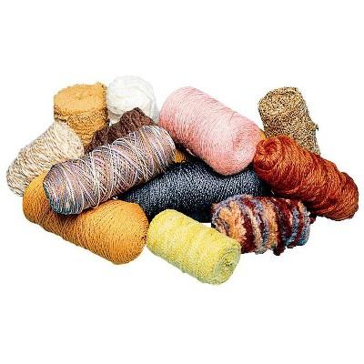 Trait Tex Natural Synthetic Fiber Yarn Assortment, Assorted Earthtone Color, 5 lb, set of 20