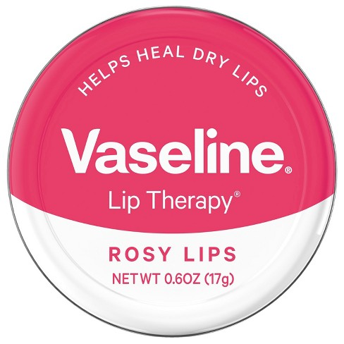 Vaseline Lip Therapy Rosy Lips Lip Balm Tin 0.6 oz - image 1 of 4