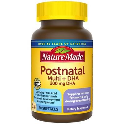 Nature Made Postnatal Multi + DHA Softgels - 60ct