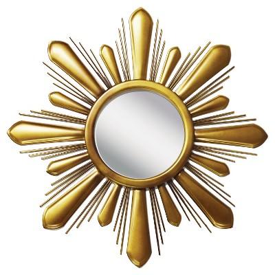 "20.62"" x 20.62"" Sunburst Decorative Mirror - PTM Images"