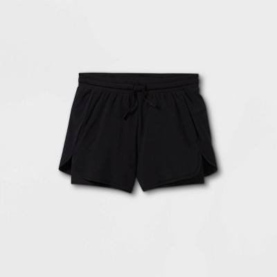 Girls' Double Layered Run Shorts - All in Motion™