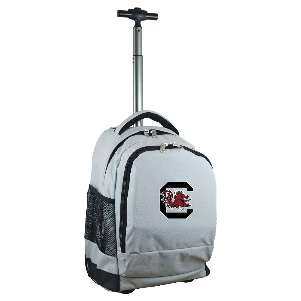 NCAA South Carolina Gamecocks Gray Premium Wheeled Backpack