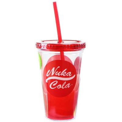 Just Funky Fallout Nuka Cola 16oz Carnival Cup w/ Molded Ice Cubes