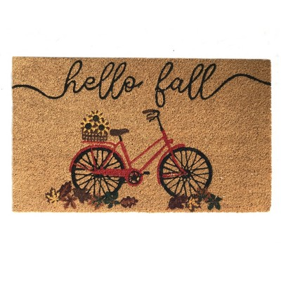 "Farmhouse Living Hello Fall Bike Coir Doormat - 18"" x 30"" - Elrene Home Fashions"
