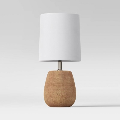 Polyresin Wood Accent Lamp Natural Oak (Includes LED Light Bulb)- Threshold™