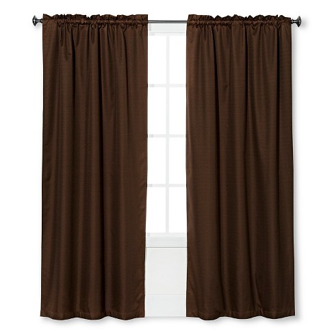 "Braxton Thermaback Light Blocking Curtain Panel Brown (42""x84"") - Eclipse™ - image 1 of 1"