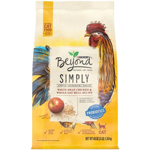 Purina Beyond White Meat Chicken & Whole Oat Meal Recipe Adult Premium Dry Cat Food - image 1 of 4