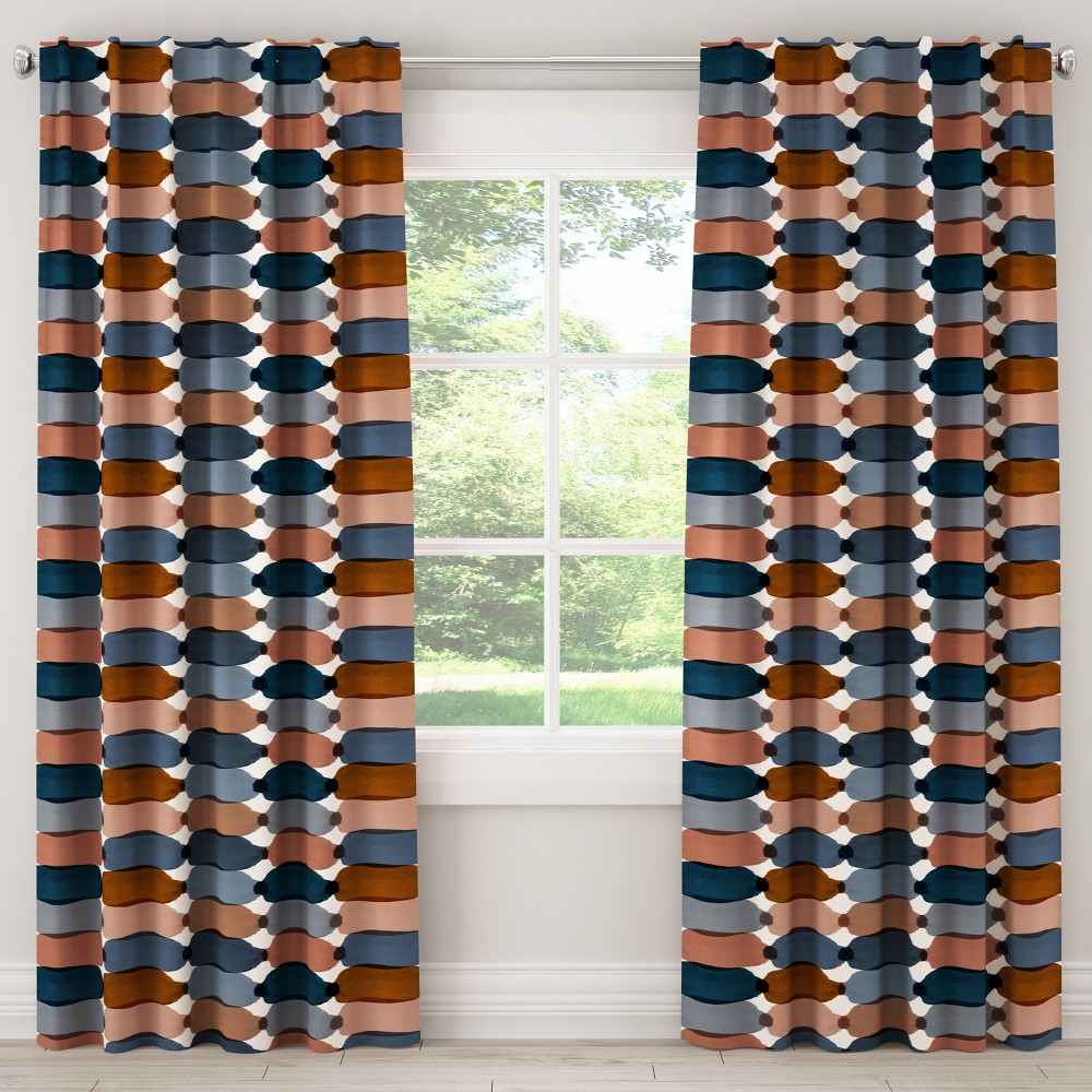 Unlined Curtain Bottleneck Blue Blush 120L - Cloth & Co., Multicolored