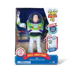 Disney Pixar Toy Story 4 Buzz Lightyear with Interactive Drop-Down Action