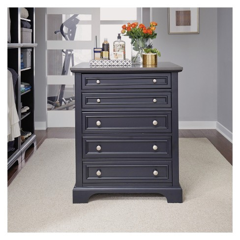 Bedford Closet Island - Satin Black - Home Styles - image 1 of 4