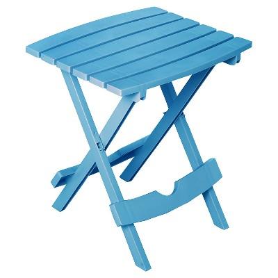 Adams Quick Fold Side Table - Pool Blue