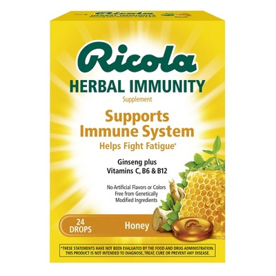 Cough & Sore Throat: Ricola Herbal Immunity