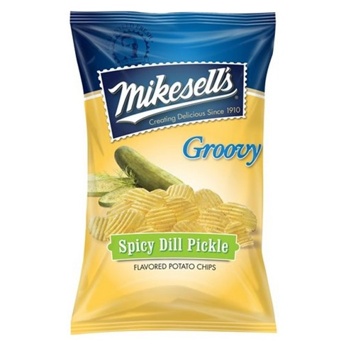 Mikesell's Groovy Spicy Dill Pickle Flavored Potato Chips - 9.5oz - image 1 of 1