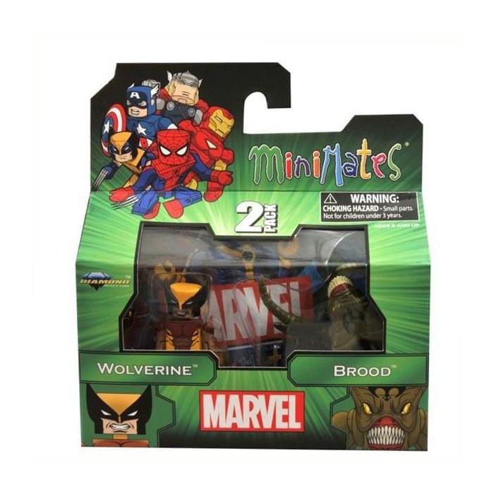 Diamond Select Marvel Wolverine & Brood Minimates Series 47 Figure 2 Pack - image 1 of 1
