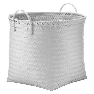 Large Round Woven Bin - White - Room Essentials™