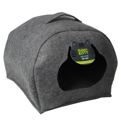 Quirky Kitty Cat Cave Bed - Gray