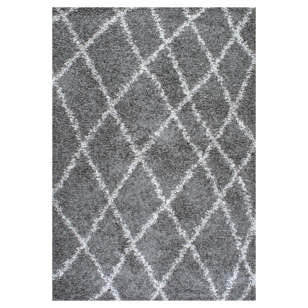 Gray Diamond Shag Runner 2.67'x 8' - nuLOOM, Grey