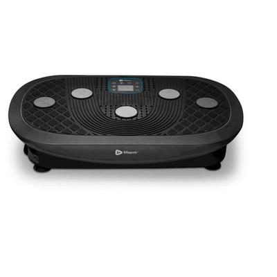LifePro LP-RMXPLS-BLK Portable Home Body Weight Training Fitness Exercise Workout Rumblex Plus 4D Vibration Plate Platform Equipment Machine, Black