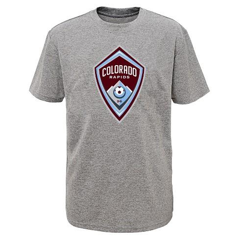 62a7694b4de Boys' Short Sleeve Penalty Kick Gray Performance T-Shirt Colorado Rapids.  Shop all MLS