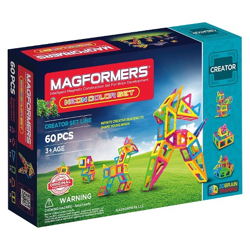 Magformers Neon 60 PC Set - image 1 of 6