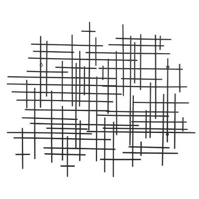 35.83 x29.53  Decorative Wall Sculpture Black - Project 62™