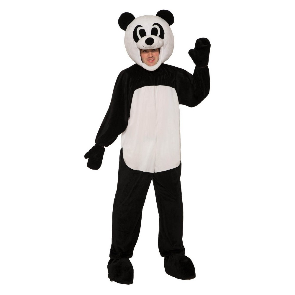 Image of Halloween Adult Open Face Panda Halloween Costume, Adult Unisex, Size: One Size, MultiColored