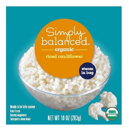 Organic Frozen Riced Cauliflower - 10oz - Simply Balanced™ - image 1 of 1